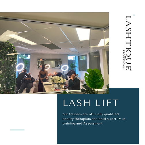 Lash Lift Training Courses www.lashtique