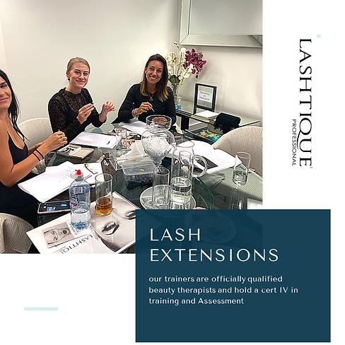 Lash Extension Courses www.lashtiqueprof