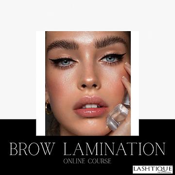 Brow Lamination Online  Course www.lasht