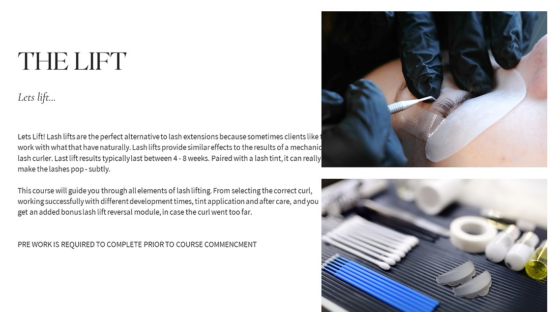 daniibennion Lash Courses www.lashitquep