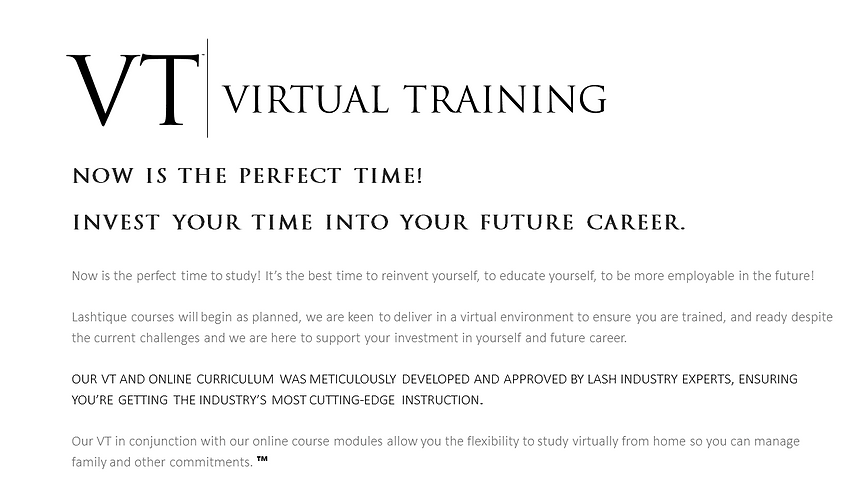 VT- now its time online brow courses www