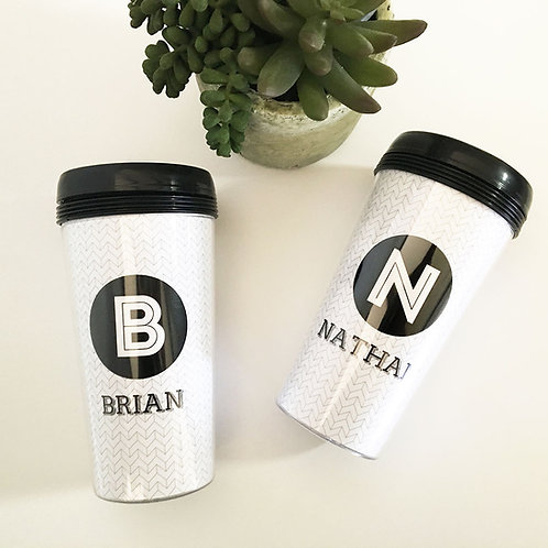 Black and White Travel Mug