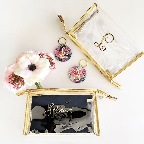 Personalized Clear Cosmetic Bag