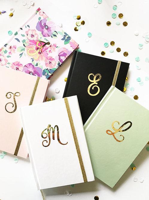 Gold Monogram Journal
