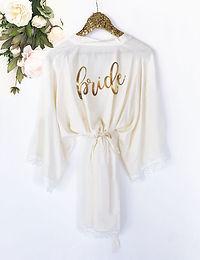 Bridal Party Cotton Lace Robe
