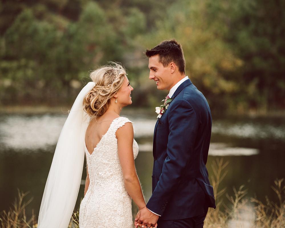 bride and groom portraits, oregon wedding