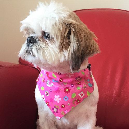 Dog Bandana Sweet Pink Floral by Woof Stuff Ireland