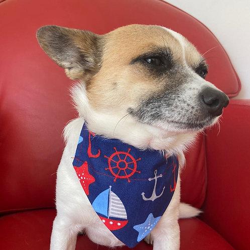 Dog Bandana Blue Sailing Dog by Woof Stuff Dublin Ireland