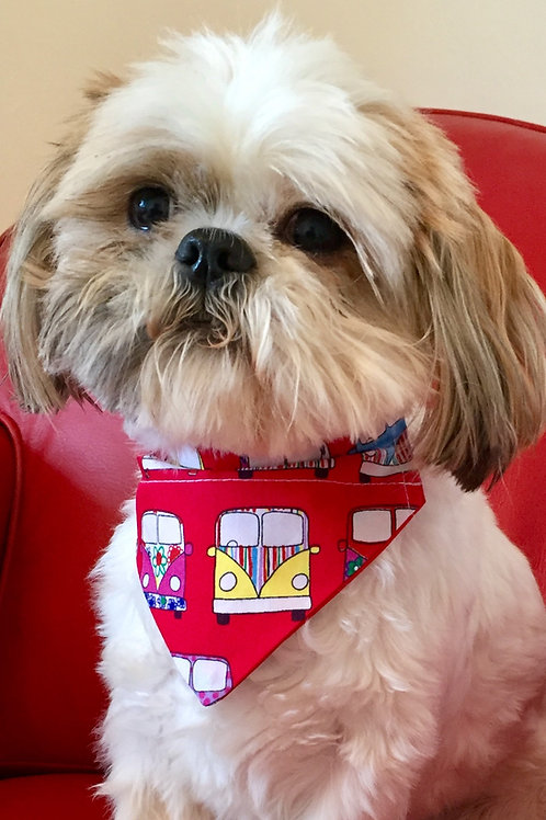 Dog Bandana Red Camper Van by Woof Stuff