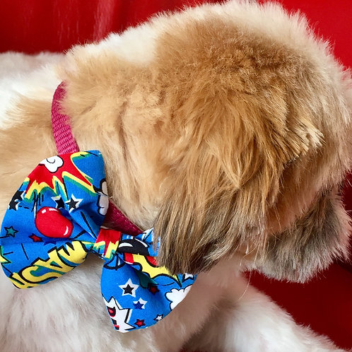 Dog Dickie Bow Smash and Pow by Woof Stuff Dublin Ireland