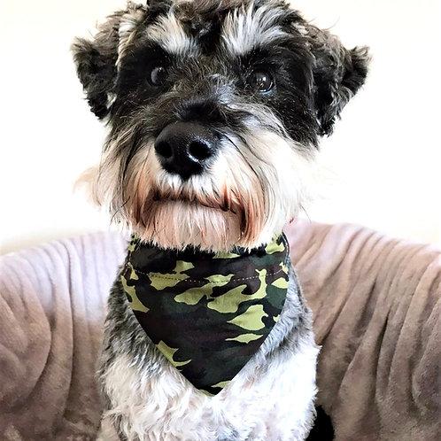 Dog Bandana Green Camoflage