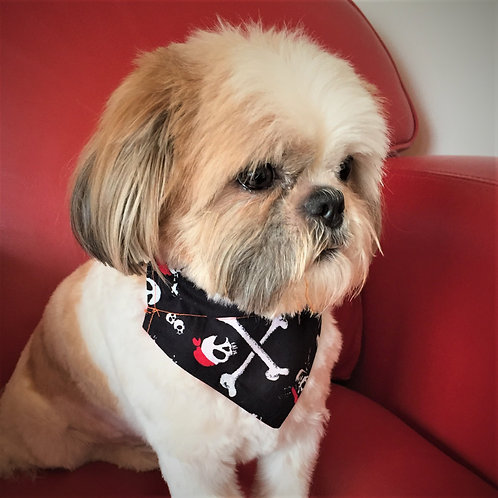 Dog Bandana Skull and Bones by Woof Stuff Ireland