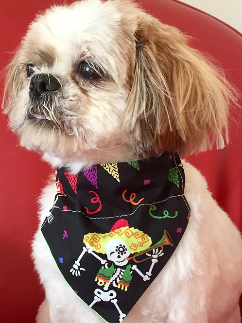 Dog Bandana Halloween Skeleton