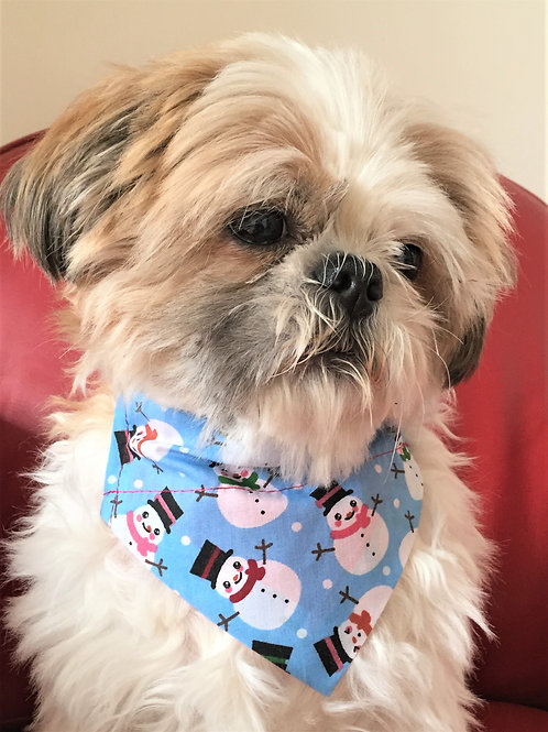 Dog Bandana Christmas Snowmen by Woof Stuff Dublin Ireland