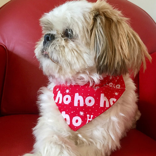 Dog Bandana Christmas Ho Ho Ho by Woof Stuff