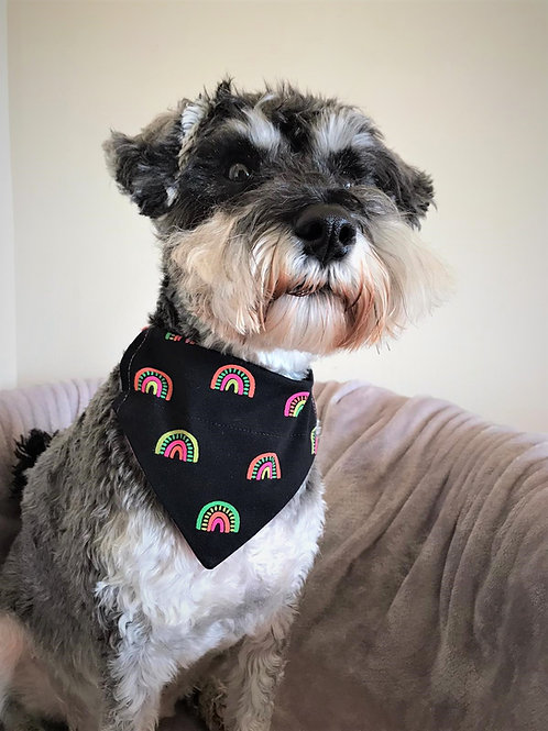 Dog Bandana Rainbows Everywhere by Woof Stuff Dublin Ireland