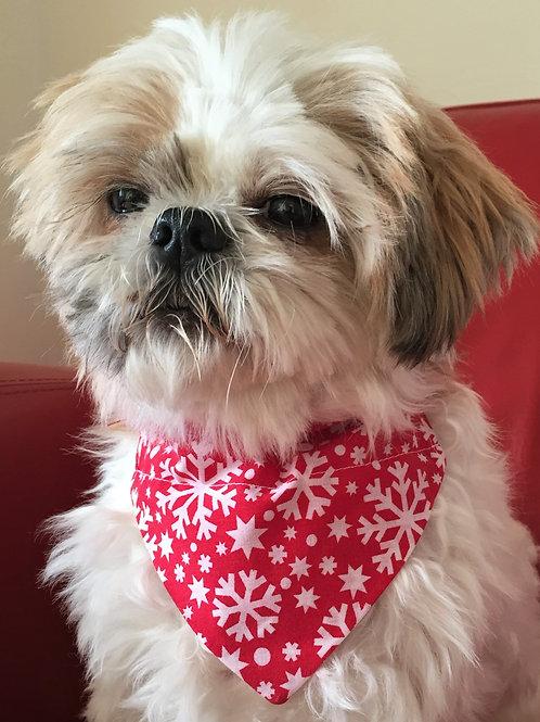 Dog Bandana Christmas Snowflake by Woof Stuff Dublin Ireland