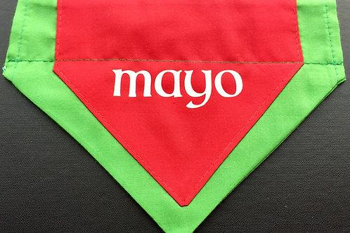 Dog Bandana Monogrammed  Mayo County Colours