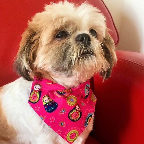 Dog Bandana Pink Russian Dolls by Woof Stuff Ireland