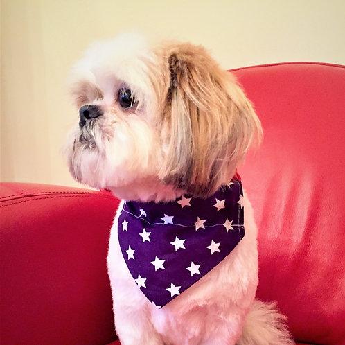 Dog Bandana Purple with White Stars by Woof Stuff Ireland