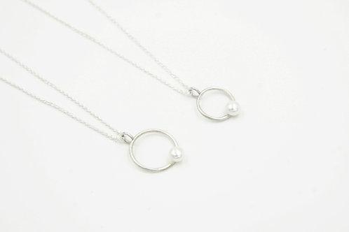 圓圈珍珠項鍊