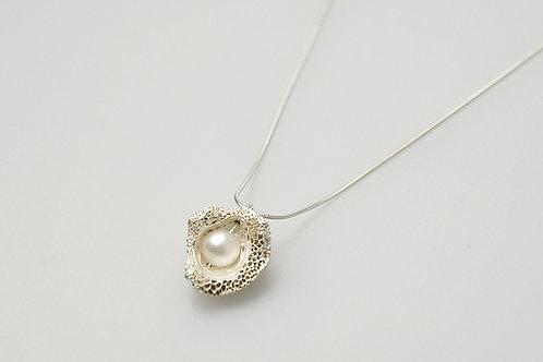 火山貝殼珍珠項鍊