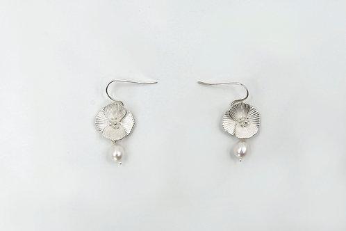 罌粟花耳環