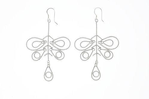蝴蝶扭絲耳環