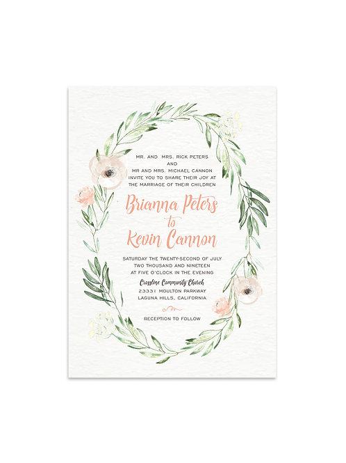Bohemian Wedding Invitation Set