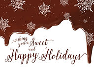 Chocolate and Snowflakes Holiday Card
