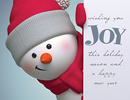 Wishing You Joy Christmas Card