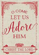 O Come Let Us Adore Him Christmas Card