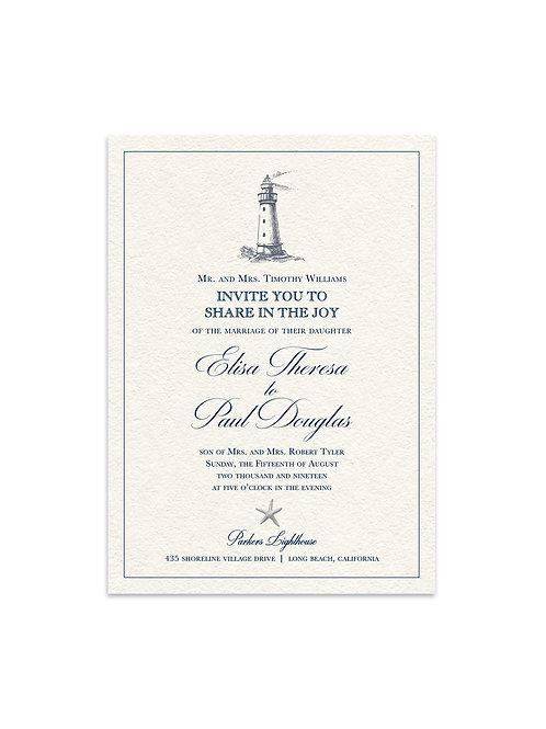 Lighthouse Wedding Invitation Set