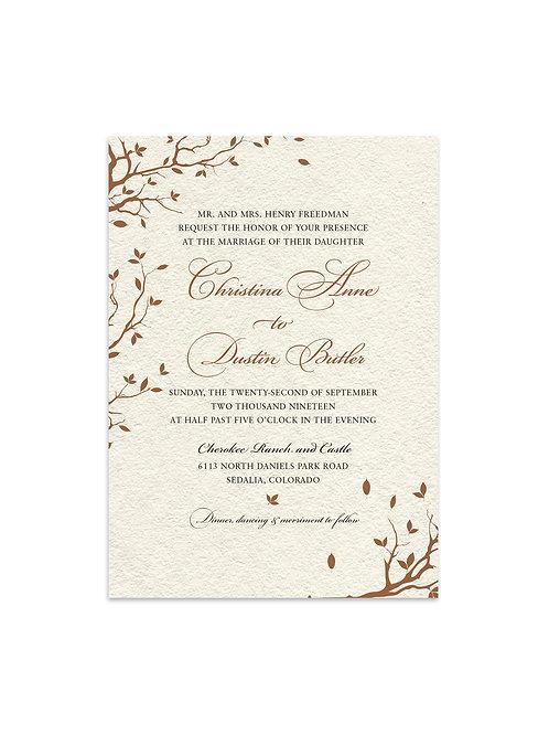 Fall Wedding Invitation Set