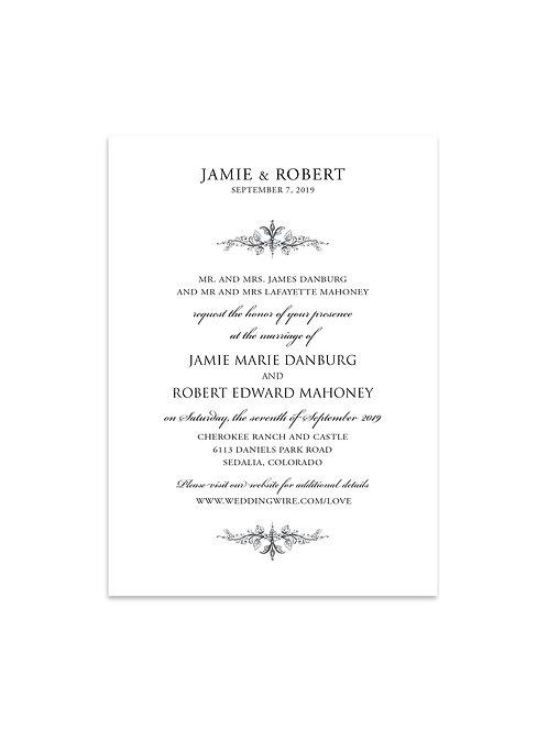 Classy Traditional Wedding Invitation Set