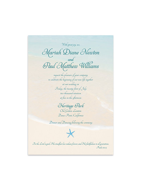 Sand and Starfish Wedding Invitation Set