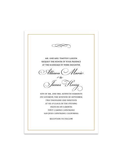 Classic Elegant Wedding Invitation Set