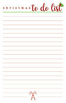 Christmas To Do List Notepad