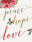Peace Hope Love Christmas Card