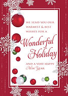 Wonderful Holiday Greeting Card