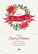 Love Peace Joy Christmas Card