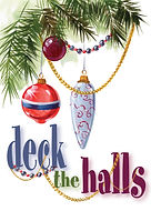Deck the Halls Painting Ornaments Christmas Card