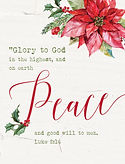 Glory to God Christmas Card