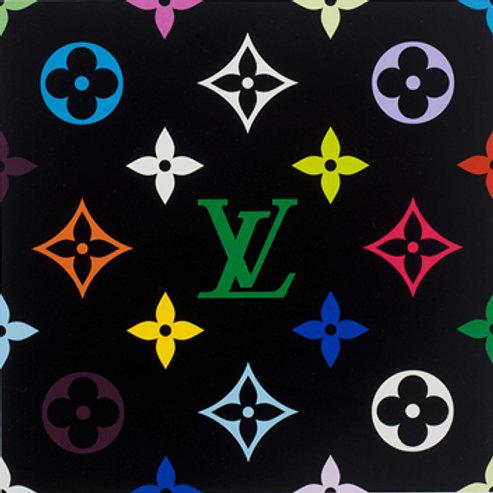 """""""Superflat Monogram (Green)"""" by Takashi Murakami"""