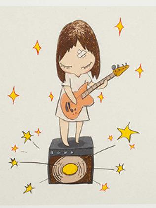 """""""Guitar Girl"""" by Yoshitomo Nara"""