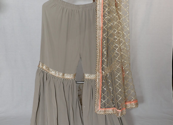 Blatic Grey Party Wear Lengha