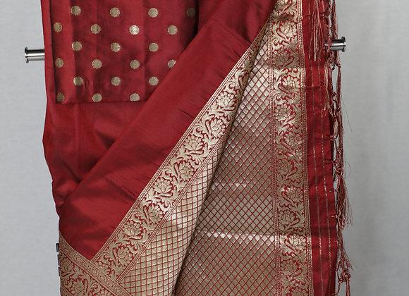 Banarsi Saree in Maroon Color