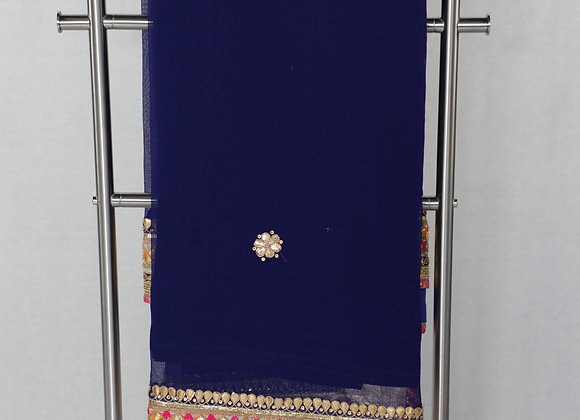 Dark Blue Colur Saree With Designer Border