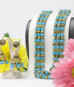Handmade Turquoise Party wear set