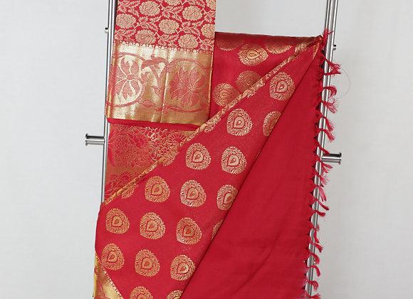 Banarsi Saree In Red Color